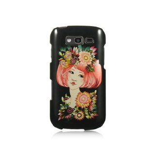 Black Flower Girl Hard Cover Case for Samsung Galaxy S Blaze 4G SGH T769 Cell Phones & Accessories