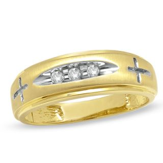 Ladies Diamond Accent Cross Wedding Band in 14K Gold   Zales