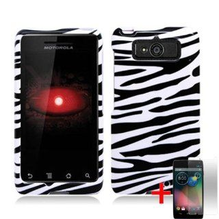 MOTOROLA DROID MINI XT1030 BLACK WHITE ZEBRA ANIMAL STRIPE COVER HARD CASE + FREE SCREEN PROTECTOR from [ACCESSORY ARENA] Cell Phones & Accessories
