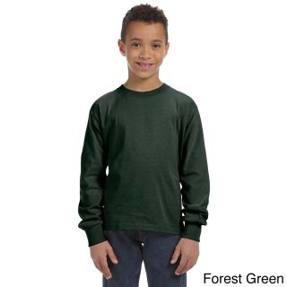 Fruit Of The Loom Fruit Of The Loom Youth Heavy Cotton Hd Long Sleeve T shirt Green Size L (14 16)