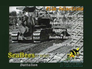 Seabees of WWII Old Films Sicily Italy Normandy harbors Iwo Jima DVD Construction Battlalion, USN Navy, CampbellFilms, USN Movies & TV