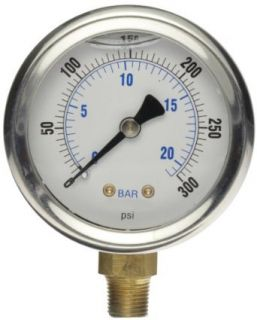 TPI A790 Analog Oil Pressure Gauge, 0 30 psi Leak Detection Tools