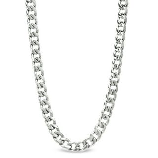 Mens Stainless Steel Curb Necklace and Bracelet Set   22   Zales