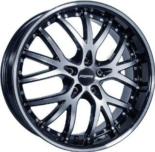 20x9.5 Forte Fury Black Mirror Wheel Rim 5x110 +35mm Offset 73.1mm Hub Bore Automotive