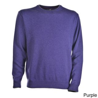 Luigi Baldo Luigi Baldo Italian Made Mens Cashmere Crew Neck Sweater Purple Size S