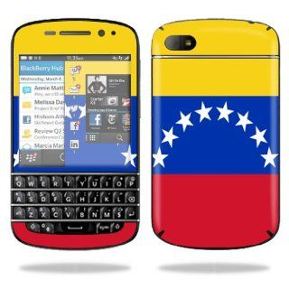 MightySkins Protective Vinyl Skin Decal Cover for BlackBerry Q10 Cell Phone SQN100 3 Sticker Skins Venezuela Flag Computers & Accessories
