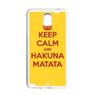 Great Keep Calm and Hakuna Matata Covers TPU Cases Accessories for Samsung Galaxy Note 3 N9000 Cell Phones & Accessories