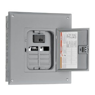 Square D by Schneider Electric HOM816M100C Homeline 100 Amp 8 Space 16 Circuit Indoor Main Breaker Load Center with Cover   Circuit Breaker Panels