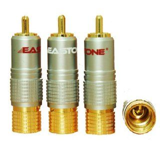Eastone� ER816, RCA Plug Locking Connector 10mm 24k Top Quality, 2 Pairs Electronics