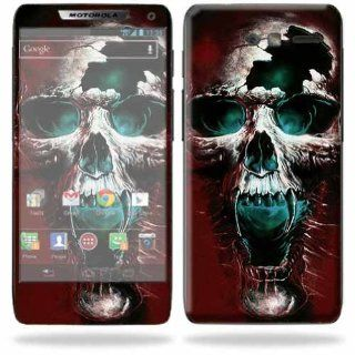MightySkins Protective Skin Decal Cover for Motorola Droid Razr M Cell Phone Sticker Skins Wicked Skull Cell Phones & Accessories