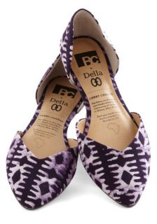 BC Footwear Dreaming of Destinations Flat in Purple  Mod Retro Vintage Flats