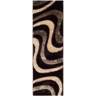 Safavieh Shag Brown/ Beige Rug (23 X 7)