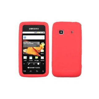 Samsung Galaxy Prevail M820 SPH M820 Red Soft Silicone Gel Skin Cover Case Cell Phones & Accessories