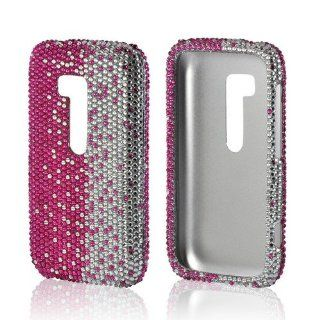 Hot Pink/ Silver Gems Bling Nokia Lumia 822 Hard Case Cover; Fashion Jeweled Snap On Plastic Case; Perfect Fit as Best Coolest Design Cases for Lumia 822/Nokia 822 Compatible with Verizon, AT&T, Sprint,T Mobile and Unlocked Phones Cell Phones & Ac