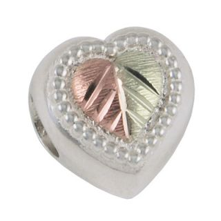 gold sterling silver heart bead orig $ 79 00 54 99 10 % off