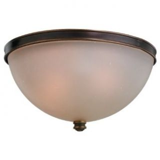 Sea Gull Lighting 75332 825 3 Light Warwick Ceiling Light, Smoky Parchment Glass Shade and Vintage Bronze   Flush Mount Ceiling Light Fixtures