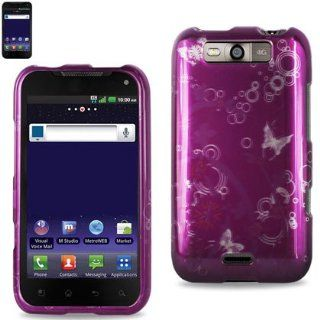 Reiko 2DPC LGMS840 0196 Durable Snap On Protective Case for LG MS840 Premium   1 Pack   Retail Packaging   Purple Cell Phones & Accessories