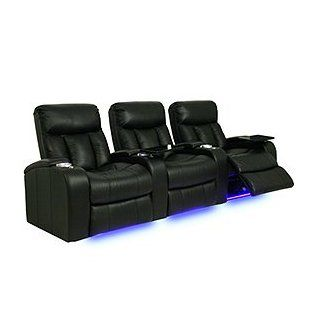 Seatcraft 841 Signature Series Verona Home Theater Seating with Power Recline, Row of 3   Black Electronics