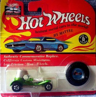 "1993 Hot Wheels Vintage 25th Anniversary Collector's Edition #5700 ""Green"" RED BARON with Collector's Button Toys & Games"
