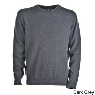 Luigi Baldo Luigi Baldo Italian Made Mens Cashmere Crew Neck Sweater Grey Size L