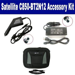 Toshiba Satellite C850BT2N12 Laptop Accessory Kit includes SDA 3508 AC Adapter, SDA 3558 Car Adapter, SDC 34 Case Computers & Accessories
