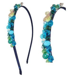 Designer Fashioned Beaded Crystal & Bling Headbands (Style 3) Turquoise Blue Beaded Headband   Hot Gift Ideas for Women Health & Personal Care