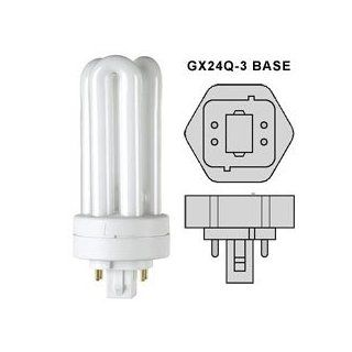 CF26DTE/841 GX24Q 3 26W 4100K 4 Pin Triple Twin Tube Plug In CFL   Compact Fluorescent Bulbs