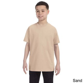 Gildan Gildan Youth Heavy Cotton T shirt Tan Size L (14 16)