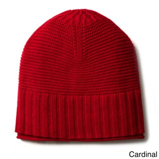 Ply Cashmere Ply Cashmere Ribbed Hat Red Size One Size Fits Most