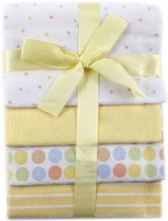 Luvable Friends 4 Pack Flannel Receiving Blankets, Yellow  Nursery Receiving Blankets  Baby