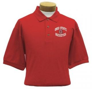 Ohio State Men's Embroidered Pique Polo Shirt (Large)  Sports Fan Polo Shirts  Clothing