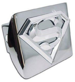 Superman 3D Logo and Chrome Metal Trailer Hitch Cover Automotive