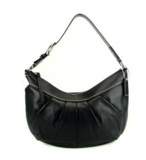 Coach Soho Large Black Leather Pleated Hobo Bag   13731 Hobo Handbags Clothing