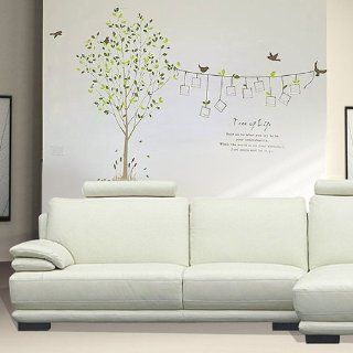 Photo Frame Leaves Tree Bird Removable Kids Room Art Mural Wall Sticker Decal   Decorative Wall Appliques