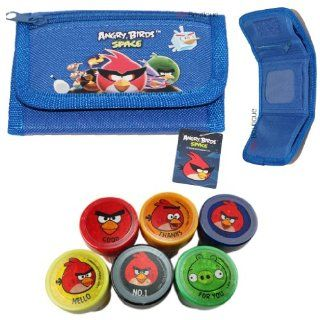 Blue   Rovio Angry Bird Wallet FREE Angry Bird Stamp Boys Girls Gift Toys & Games