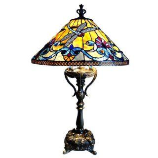Chloe Lighting CH18A889TL 2 Light Dragonfly Table Lamp