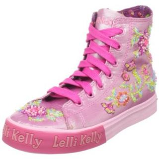 Lelli Kelly Toddler/Little Kid 9563 High Top Sneaker,Pink,26 EU (9 M US Toddler) Shoes