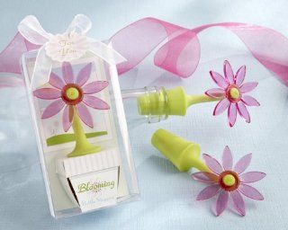 """Blooming"" Flower Bottle Stopper in Whimsical Window Gift Box   Baby Shower Gifts & Wedding Favors (Set of 24)  Baby Keepsake Boxes  Baby"