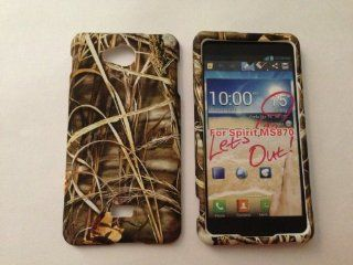 ADV CAMO REALTREE CAMOUFLAGE HUNTER DRY GRASS FOR LG SPIRIT 4G MS870 MS 870 METRO PCS RUBBERIZED HARD PROTECTOR COVER CASE / SNAP ON PERFECT FIT CASE Cell Phones & Accessories
