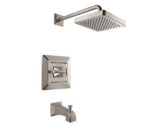 Pfister R898FEK Park Avenue Tub and Shower Valve Trim Package with Single Metal Lever Handle, Brushed Nickel