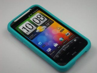 TURQUOISE Soft Silicone Skin Cover Case for HTC Inspire 4G/Desire HD [In Twisted Tech Retail Packaging] Cell Phones & Accessories