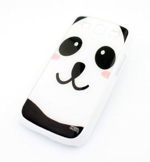WHITE Snap On Case Samsung Galaxy S3 SIII i9300 S 3 III Plastic Cover   BLUSHING PANDA cute bear pink animal lover jungle pandamonium pink Cell Phones & Accessories