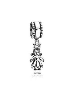 Pandora Sterling Silver Girl Dangle Charm