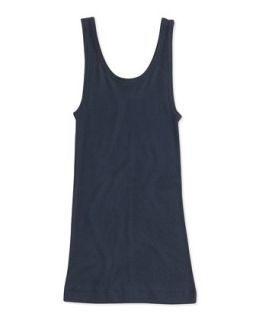 Girls Favorite Ribbed Tank Top, Blue, 4 6X   Vince