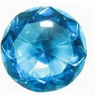 "HUGE Glass Diamond. Blue Lead Crystal, Cut Glass Gem is 3 1/8"" Tapers to a Point 2 1/8"" Deep.  Other Products"
