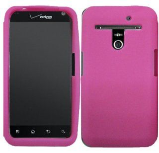 Hot Pink Silicone Jelly Skin Case Cover for LG Esteem Revolution VS910 MS910 Cell Phones & Accessories