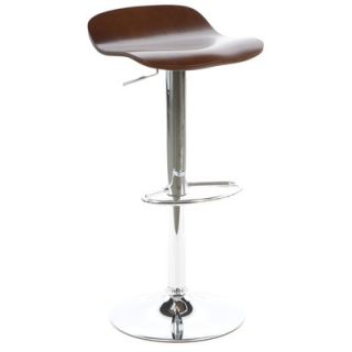 Winsome Kallie Air Lift Adjustable Bar Stool 93489 Finish Cappuccino