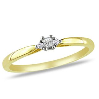 Princess Cut Diamond Accent Promise Ring in 10K Two Tone Gold   Zales