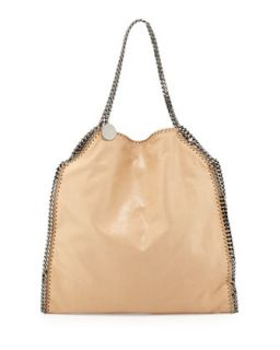 Falabella Large Faux Leather Tote Bag, Tan   Stella McCartney