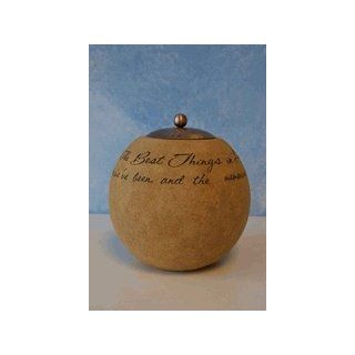 Comfort Candles The Best Things in Life by Pavilion Tea Light Candle, 4 1/2 Inch Round, Sentimental Saying   Tea Light Holders